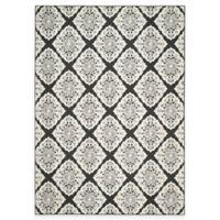 Safavieh Cottage Diamond Damask 8-Foot x 11-Foot 2-Inch Indoor/Outdoor Rug in Black