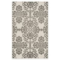 Safavieh Cottage Floral Damask 4-Foot x 6-Foot Indoor/Outdoor Rug in Cream