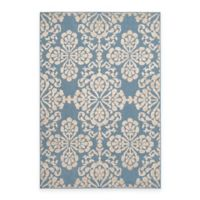 Safavieh Cottage Floral Damask 5-Foot 3-Inch x 7-Foot 7-Inch Indoor/Outdoor Rug in Light Blue