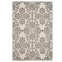 Safavieh Cottage Floral Damask 5-Foot 3-Inch x 7-Foot 7-Inch Indoor/Outdoor Rug in Cream