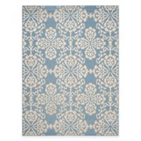 Safavieh Cottage Floral Damask 8-Foot x 11-Foot 2-Inch Indoor/Outdoor Rug in Light Blue