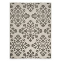 Safavieh Cottage Medallion Damask 8-Footx x 11-Foot 2-Inch Indoor/Outdoor Rug in Cream/Grey
