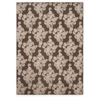 Safavieh Cottage Damask 8-Foot x 11-Foot 2-Inch Indoor/Outdoor Rug in Brown