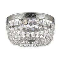 Gallery Empire 3-Light Crystal Chandelier in Silver
