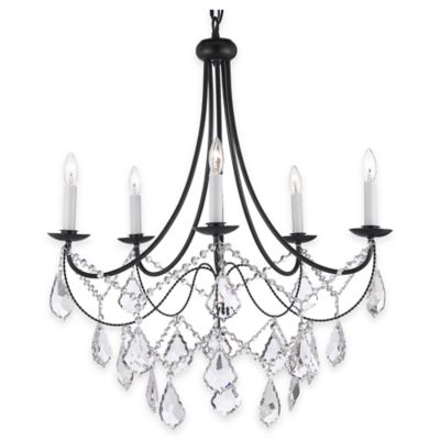 Black Wrought Iron Chandelier With Crystals Chandeliers Design – Black Rod Iron Chandelier