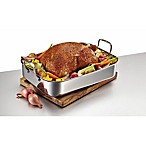 Anolon® Tri-Ply Clad Stainless Steel 17-Inch x 12.5-Inch Rectangular Roaster with Nonstick Rack