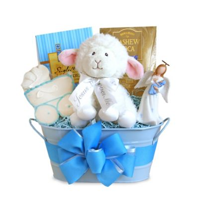 Buy christening gifts from bed bath beyond christening blessings boy gift basket negle Image collections