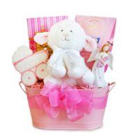 Christening Blessings Girl Gift Basket