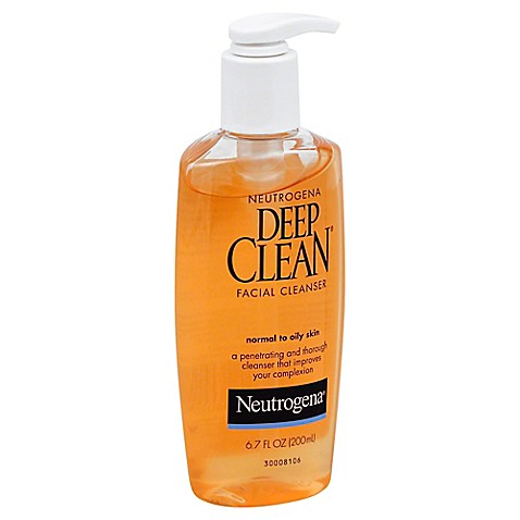 Neutrogena deep clean 6 oz facial cleanser normal to for How deep is a normal bathtub