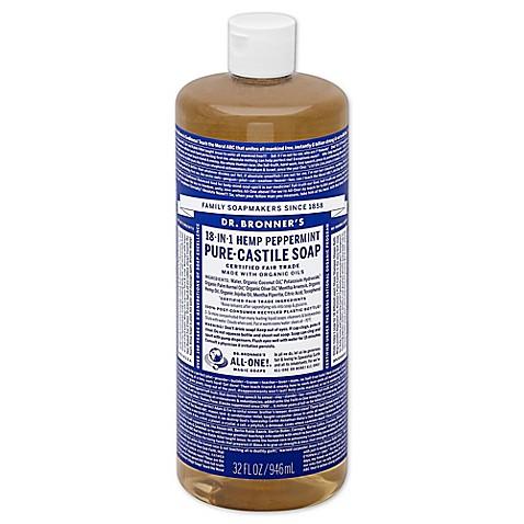 dr bronner 39 s 32 oz 18 in 1 pure castile liquid soap in peppermint bed bath beyond. Black Bedroom Furniture Sets. Home Design Ideas