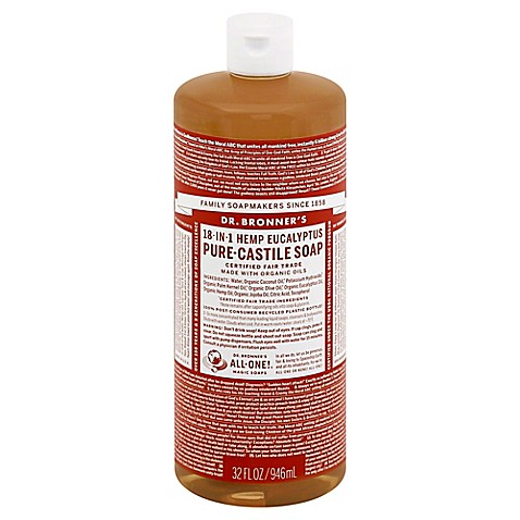dr bronner 39 s 32 oz 18 in 1 pure castile liquid soap in eucalyptus buybuy baby. Black Bedroom Furniture Sets. Home Design Ideas