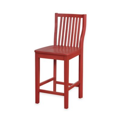 Denville 24-Inch Counter Stool in Red  sc 1 st  Bed Bath u0026 Beyond & Buy Red Wood Stools from Bed Bath u0026 Beyond islam-shia.org