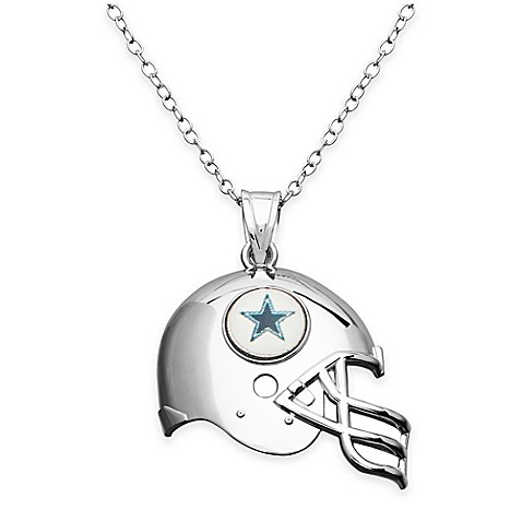Nfl dallas cowboys sterling silver 18 inch chain helmet pendant nfl dallas cowboys sterling silver 18 inch chain helmet pendant necklace aloadofball
