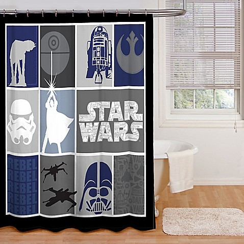 Buy Star Wars Microfiber Shower Curtain From Bed Bath