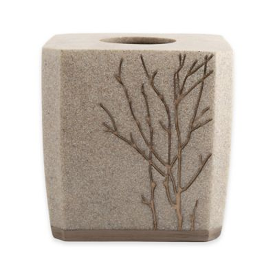 Berkshire Polyresin Boutique Tissue Box Cover In Taupe