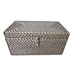 Baum Meredith Hapao Rattan Lidded Box in Grey