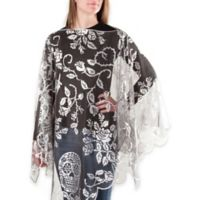 Sugar Skulls Poncho in Pewter
