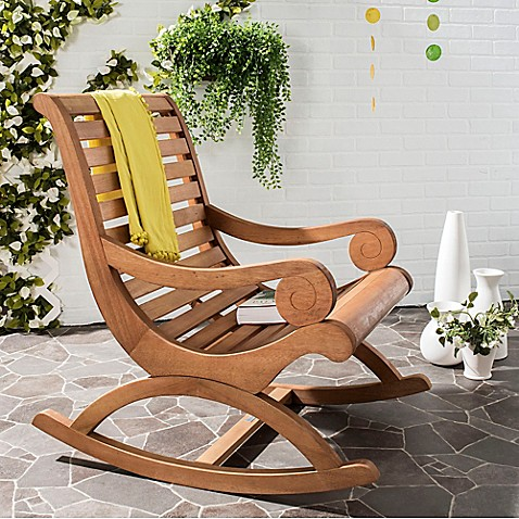 image of Safavieh Sonora Rocking Chair in Teak Brown