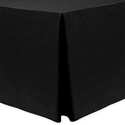 Majestic 30 Inch X 72 Inch Oblong Tablecloth In Black
