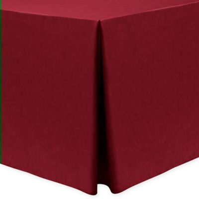 Majestic 30 Inch X 96 Inch Oblong Tablecloth In Cherry Red