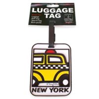 New York Taxi Cab 3-D Luggage Tag in Yellow