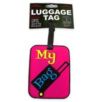 My Bag Suitcase 3-D Luggage Tag in Pink