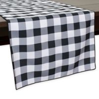 Gingham Poly Check 54-Inch Table Runner in Black/White