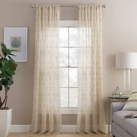 Cambria® Prism 63-Inch Rod Pocket Sheer Window Curtain Panel in Natural