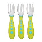 NUK® Gerber® Graduates® Kiddy Cutlery® 3-Pack Forks in Green