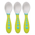 NUK® Gerber® Graduates® Kiddy Cutlery® 3-Pack Spoons in Green