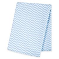 Trend Lab® Chevron Deluxe Flannel Swaddle Blanket in Blue