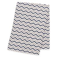 Trend Lab® Chevron Deluxe Flannel Swaddle Blanket in Navy/Grey