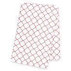 Trend Lab® Quatrefoil Deluxe Flannel Swaddle Blanket in Coral