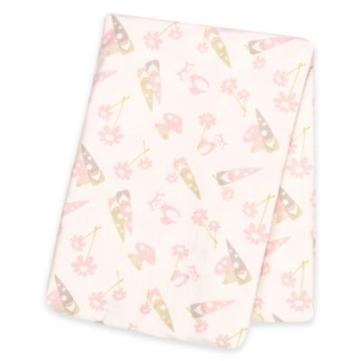 Trend Lab® Garden Gnomes Deluxe Flannel Swaddle Blanket