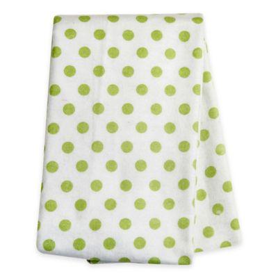 Trend Lab Polka Dot Deluxe Flannel Swaddle Blanket in Sage