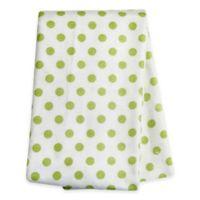 Trend Lab® Polka Dot Deluxe Flannel Swaddle Blanket in Sage
