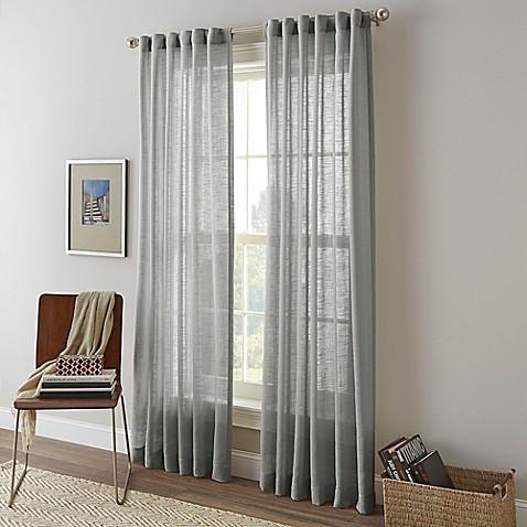 Shimmer Sheer Rod Pocket Window Curtain Panel Bed Bath Beyond