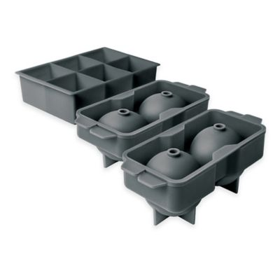 Elements By Tovolo® 3 Piece Sphere And Jumbo Cube Ice Mold Set