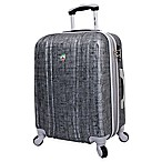 Mia Toro ITALY Macchiolina Abrasa 24-Inch 8-Wheel Expandable Spinner in Grey