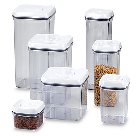 Oxo Good Grips 174 Square Food Storage Pop Containers Bed