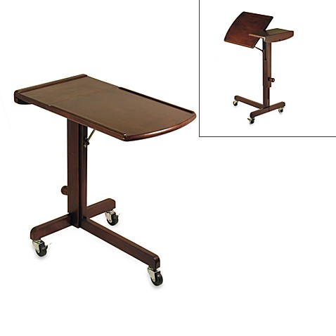 Antique Walnut Adjustable Laptop Desk