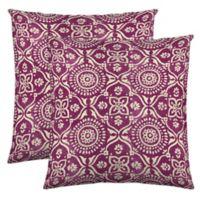 Colorfly™ Adara Throw Pillow in Fuchsia (Set of 2)
