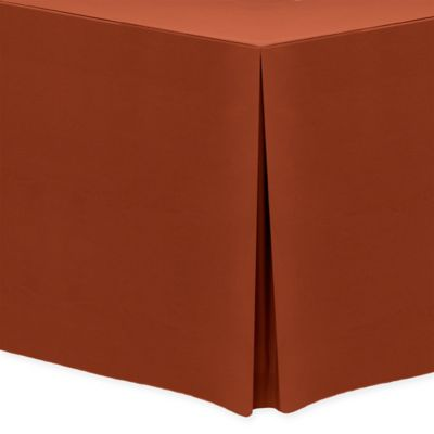 Basic Polyester Indoor/Outdoor 8 Foot Fitted Tablecloth In Burnt Orange