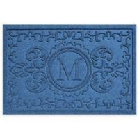 Weather Guard™ Baroque 23-Inch x 35-Inch Door Mat in Medium Blue