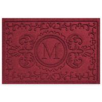 Weather Guard™ Baroque 23-Inch x 35-Inch Door Mat in Red/Black