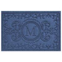 Weather Guard™ Baroque 23-Inch x 35-Inch Door Mat in Navy