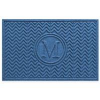 Weather Guard™ Chevron 23-Inch x 36-Inch Door Mat in Medium Blue