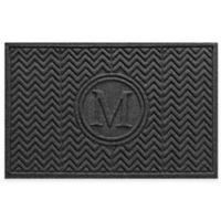 Weather Guard™ Chevron 23-Inch x 36-Inch Door Mat in Charcoal