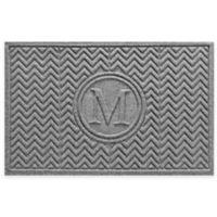 Weather Guard™ Chevron 23-Inch x 36-Inch Door Mat in Grey