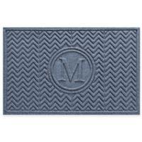Weather Guard™ Chevron 23-Inch x 36-Inch Door Mat in Blue Stone